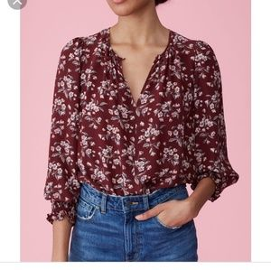 "Rebecca Taylor ""tilda"" silk floral top"